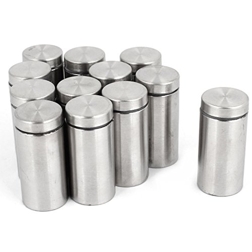 uxcell 12 Pcs 19mm x 40mm Wall Mount Stainless Steel Glass Standoff Nail