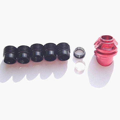 Sharrow 45 Degree encapuchado Peep carcasa de aluminio Clarificador lente y Kits de apertura (Conjunto rojo)