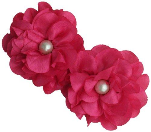 (Maya Road TK2546 Satin Scallop Edge Blooms for Crafting, Hibiscus)