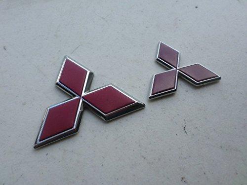 Deck Lid Decal - 99-01 Mitsubishi Diamante Red Star Hood Logo Diamond Deck Lid MR441367 Emblem Badge Symbol Decal Set