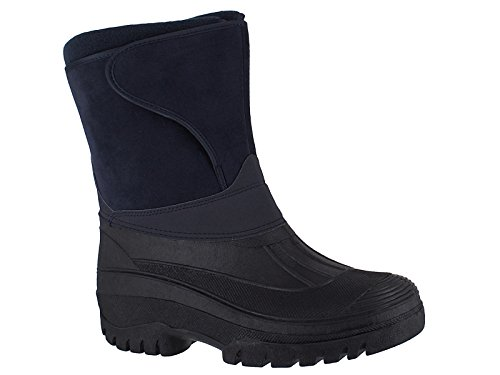senderismo nieve tamaños estable agua nbsp;11 Wellys nbsp;– 4 esquí los Negro Marino Azul de botas Farm patio cálido Wellington invierno todos Unisex equitación UK Mucker impermeable Azul de botas lluvia Nuevo wxzXq06Wg6