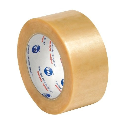 Box Partners 2 x 110 yd Natural Rubber Clear Carton Sealing Tape PVC 2.Mil, (T902530) by Box Partners