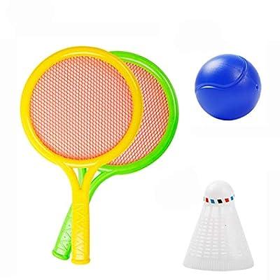 Bageek Kids Tennis Racquet Set Multipurpose Creative Tennis Racket with 2 Balls: Sports & Outdoors