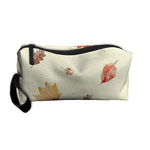 King Fong Fall Maple Leaf Makeup Bag for Men/Women, Travel Toiletry Bag, Oxford Pencil Case ()
