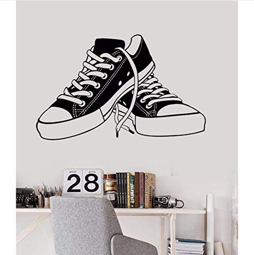 pbldb 60X38Cm Baby Nursery Wall Sticker Sneakers Wall Decal Kids Room DIY Removable Shoes Shop Window Decoration Children Room -