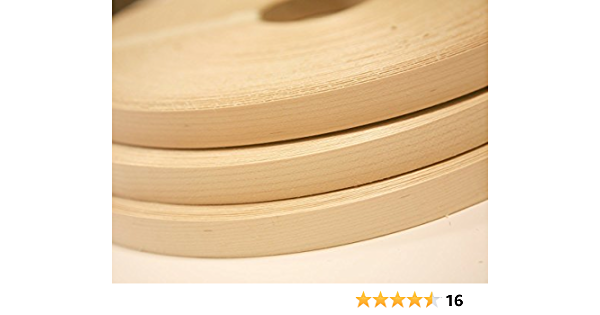 Real Wood Veneer Edging for Furniture Restoration Easy Application Peel and Stick Strong Adhesive Made in USA EDGE SUPPLY EASYEDGE Birch 3//4 inch X 25 ft roll of Plywood Edge Banding