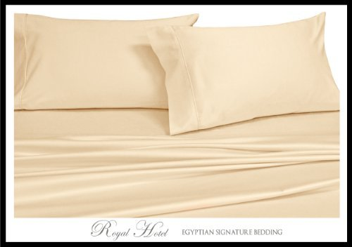100% Viscose from Bamboo Silky Sheet Set, King, White by Royal Tradition