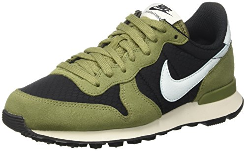 Nike Damen Wmns Internationalist Low-Top Schwarz (Black/glacier Blue/palm Green/sail)
