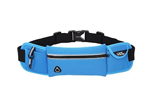 Live Active Running Fanny Pack Fuel Belt, Stealth Slim Profile, Hyper Blue