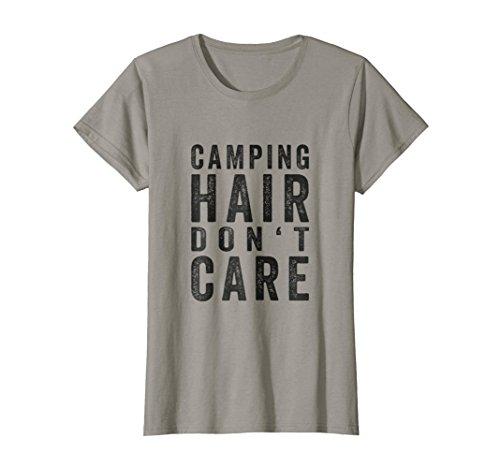 Womens Camping Hair Dont Care Shirt | Lake Girl Gift Camping - Life Quiet Hat