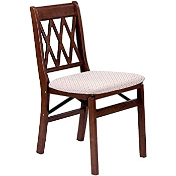 Etonnant Lattice Back Folding Chair In Warm Cherry Finish   Set Of 2