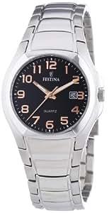 Festina F16450/6 - Reloj analógico de cuarzo para mujer con correa de acero inoxidable, color plateado