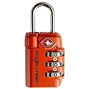 Eagle Creek Travel Safe TSA Lock, Flame Orange