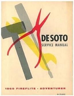 1960 desoto repair shop service manual body manual covers all rh amazon com