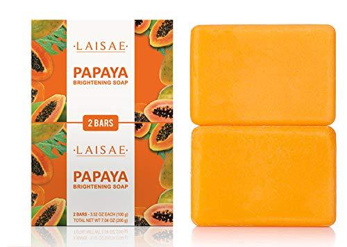 Papaya Brightening Soap Exfoliates