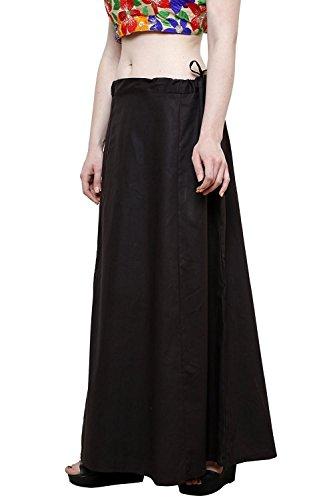 Aurielle Rogisse Mujer India Sari Algodón Enagua Bollywood Solid Inskirt Costuras Forro Enaguas Dark Brown