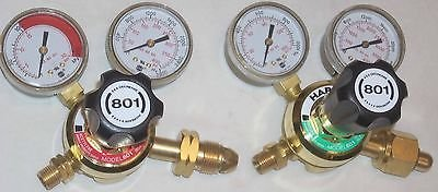 Harris 801 Oxygen Acetylene or LP Cutting Welding Regulator Set CGA 510