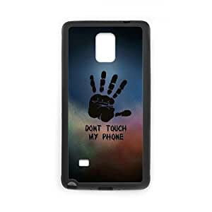 Lycase(TM) Don't touch my phone Custom Durable Hard Back Plastic Case, DIY Don't touch my phone Samsung Galaxy Note 4 Case
