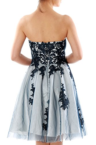 Lace Homecoming Macloth Formal Prom Women Strapless Dunkelmarine Gown Dress Short Cocktail