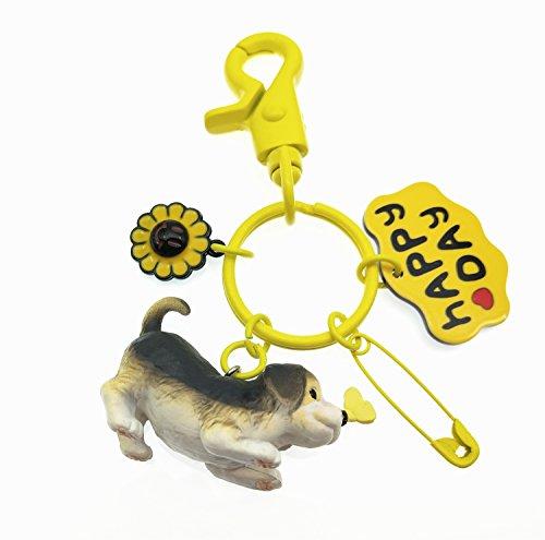 TOSPANIA Adorable Dog Keychain for Car Key Handbag Tote Bag Pendant (Beagle) ()