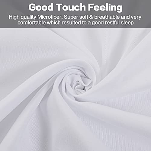 Balichun Bed Sheet Sets Double/Full Size - 6 Piece - 1800 Thread Count Hypoallergenic Brushed Microfiber Bedding Sheets with Deep Pockets -Wrinkle/Fade/Stain Resistant (White, Full)