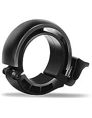 Bike Bell, Mini Bicycle Bell Black, Aluminium Alloy Ring Horn Accessories for Mountain Biking and Road Bikes Handlebar Diameter 22.2mm-31mm Black