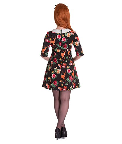 Hell Bunny 60's Style Vintage Hermeline Animaux Bois Mini Robe