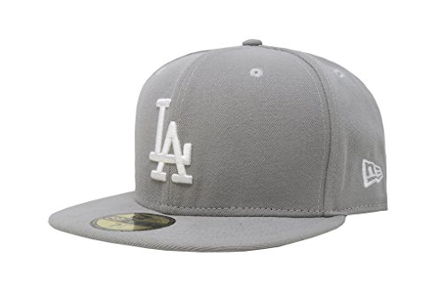 (MLB Los Angeles Dodgers Basic 59Fifty Fitted Cap, Gray,)