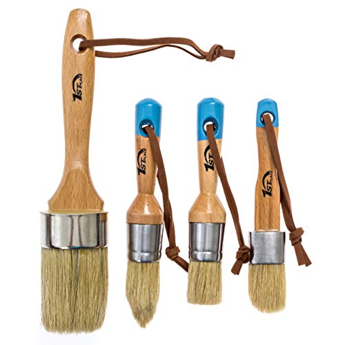 1st Place Chalk & Wax Pure Bristle Brushes - Hand Made - Complete Set (4 Brushes)