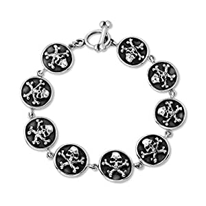 Amazon com: WithLoveSilver 925 Sterling Silver Round Gothic