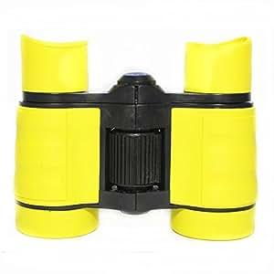ManKn(R) Prismáticos de juguete infantil / Bolsillo Niños Binoculares / Binoculares de juguete, 4x30mm Prismáticos De Regalo De Juguetes De Campaña Telescopio Al Aire Libre Para La Escalada De La Caza (Amarillo)