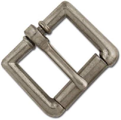 16 mm Roller Strap Buckles Antique Nickel Finish, 5//8