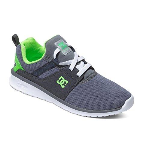 DC Shoes Heathrow B - Zapatillas de Deporte Niños Gris/blanco/verde