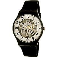 Swatch Men's Skeletor SUOB134 Black Rubber Swiss Quartz Watch