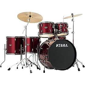 Tama Imperialstar Complete Drum Set - 6-piece - Vintage Red 9
