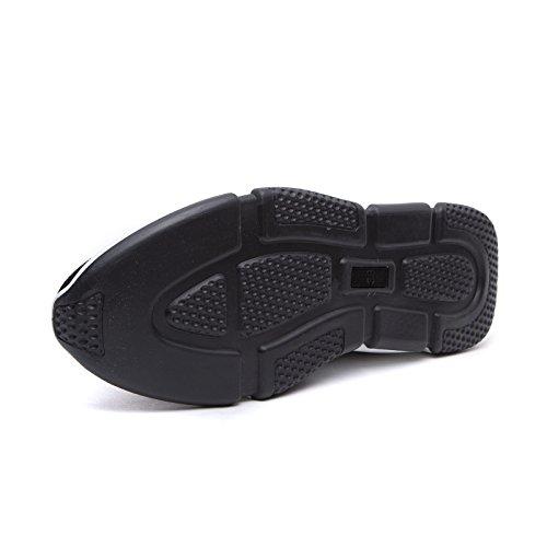Uomo Palestra Sneakers No Corsa calzino MForshop Lacci Donna Ginnastica g02 K3600 Nero Scarpe 8SxxRB