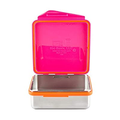 Kid Basix by New Wave Safe Snacker–Stainless Steel Lunchbox for Food Storage: Baby