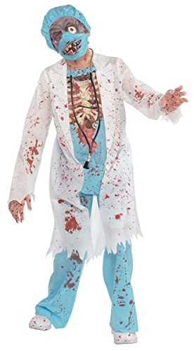 [Children's Zombie MD Costume Size Medium (8-10)] (Kids Zombie Doctor Costumes)