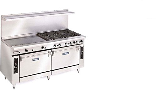 Imperial Commercial Restaurant Range 72'' With 12 Burners 2 Standard Ovens Natural Gas Model Ir-12 by Imperial