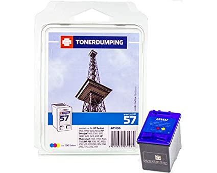 Tóner Dumping Impresora de Tinta Compatible con HP 57/C6657 A ...