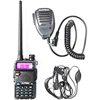 $25 » BaoFeng UV-5R Dual Band Handheld Two Way Radio Rechargeable Ham Walkie Talkie with Free…