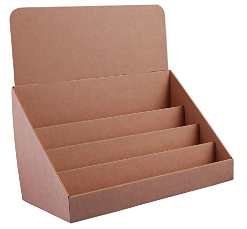 Stand-Store Brown 18-Inch 4 Tier Cardboard Greeting Card Display Stand, Wide (Greeting Stands Card)