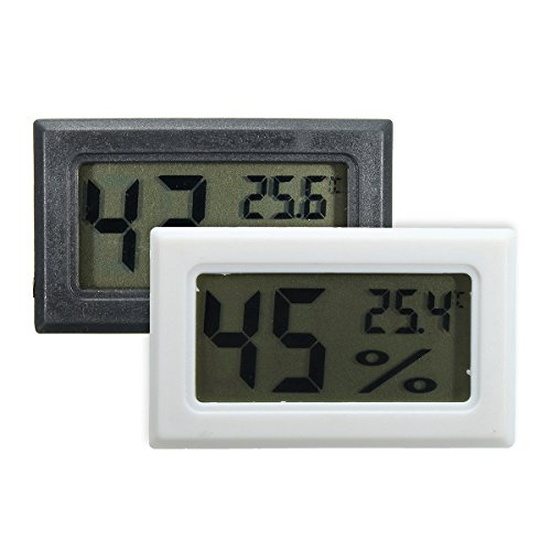 INNI Digital Cigar Hygrometer Thermometer Humidity Monitor Meter for Humidor