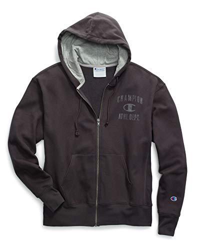 - Champion Men's Heritage Fleece Full Zip, Grey Scarf, Large