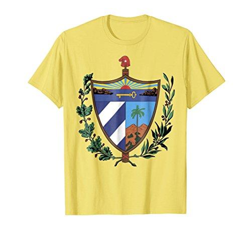 Mens Cuba coat of arms T-shirt Tee Tees T Shirt Tshirt Large Lemon