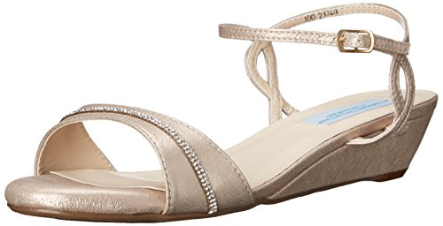 Wedge Dyeable Shoes - Dyeables, Inc Womens Women's Mallory Dress Sandal, Nude Patent, 10 M US