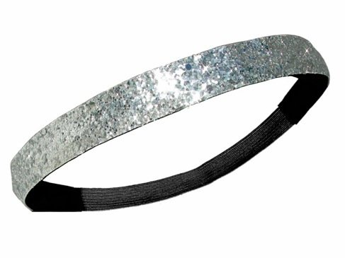 Image Unavailable. Image not available for. Color  Silver Glitter Headband  ... d877687f745