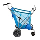 Seina Steel Framed Collapsible Versatile Garden Cart Beach Sand Cruiser, Blue