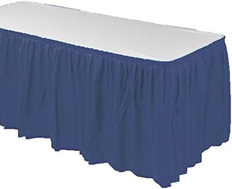 Dreampartycreate Falda de mesa para fiesta, de plástico plisado ...