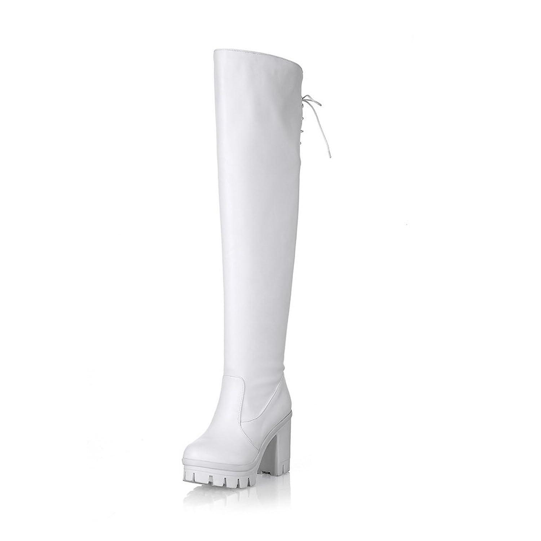 AdeeSu Womens Platform Slip-Resistant Casual Urethane Boots SXC02088